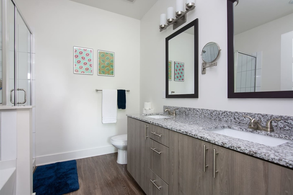 His and hers sink in the master bathroom