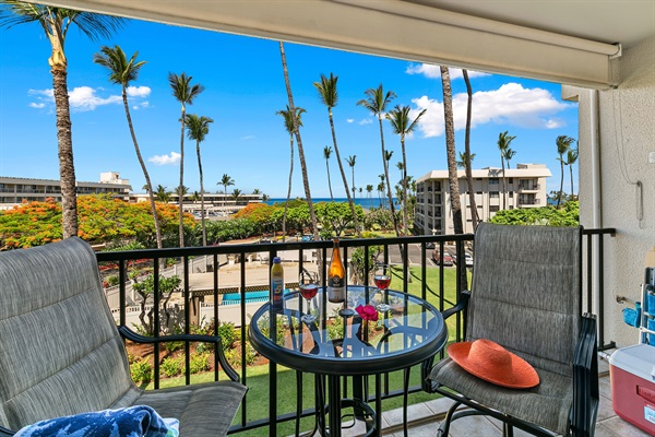 view from your private lanai, where you'll want to eat all your meals