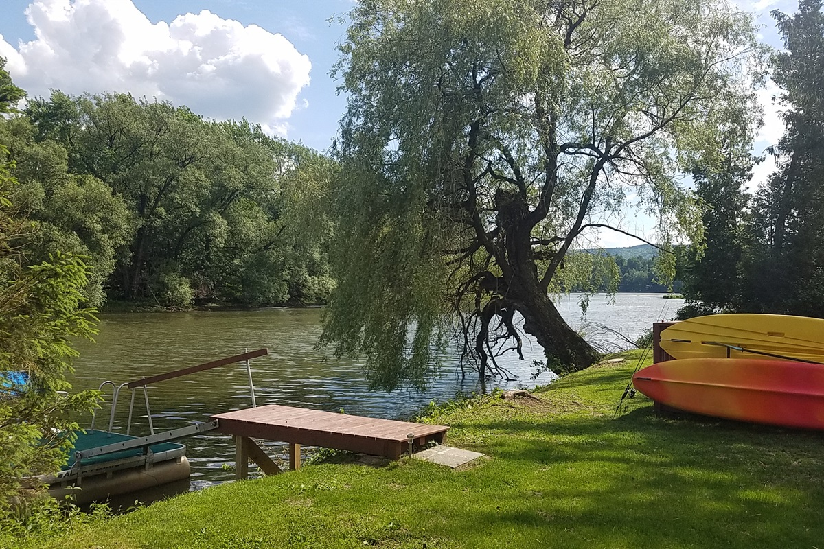 Kayaks, and dock at the water