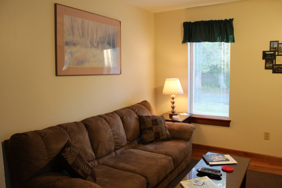 Comfortable living room for family time or watching sports
