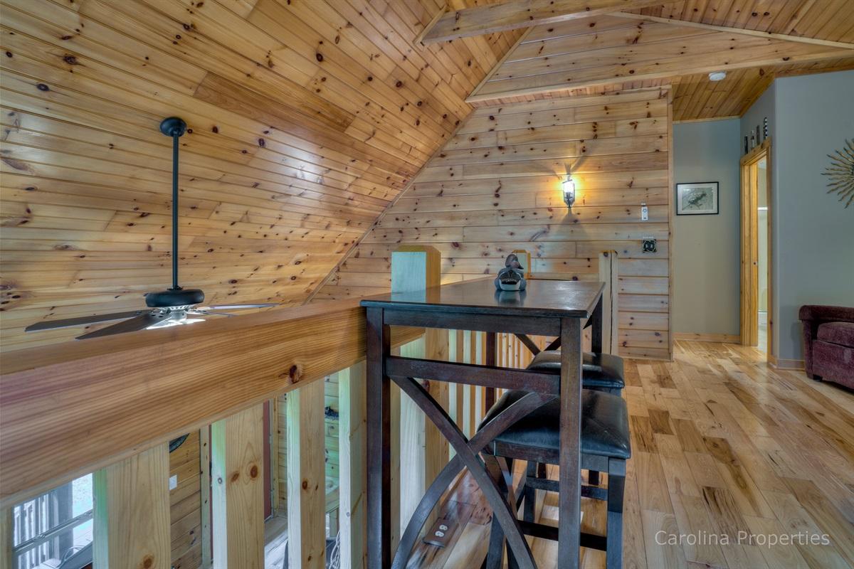 Upper level loft desk space