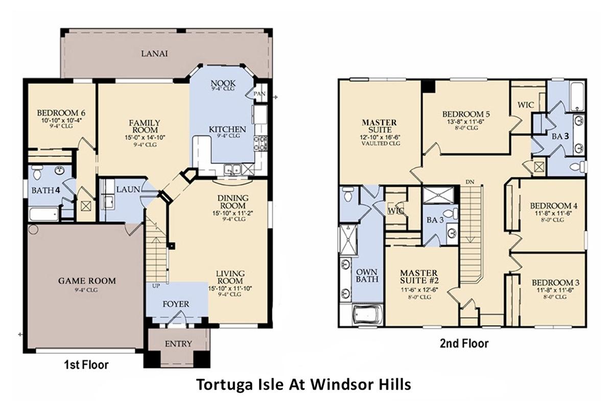 Floor Plan - Following BRs/Baths Labeled Per Plan