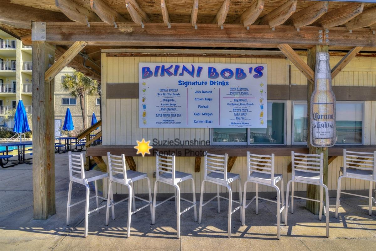 Bikini Bobs Tiki Snack Bar Poolside