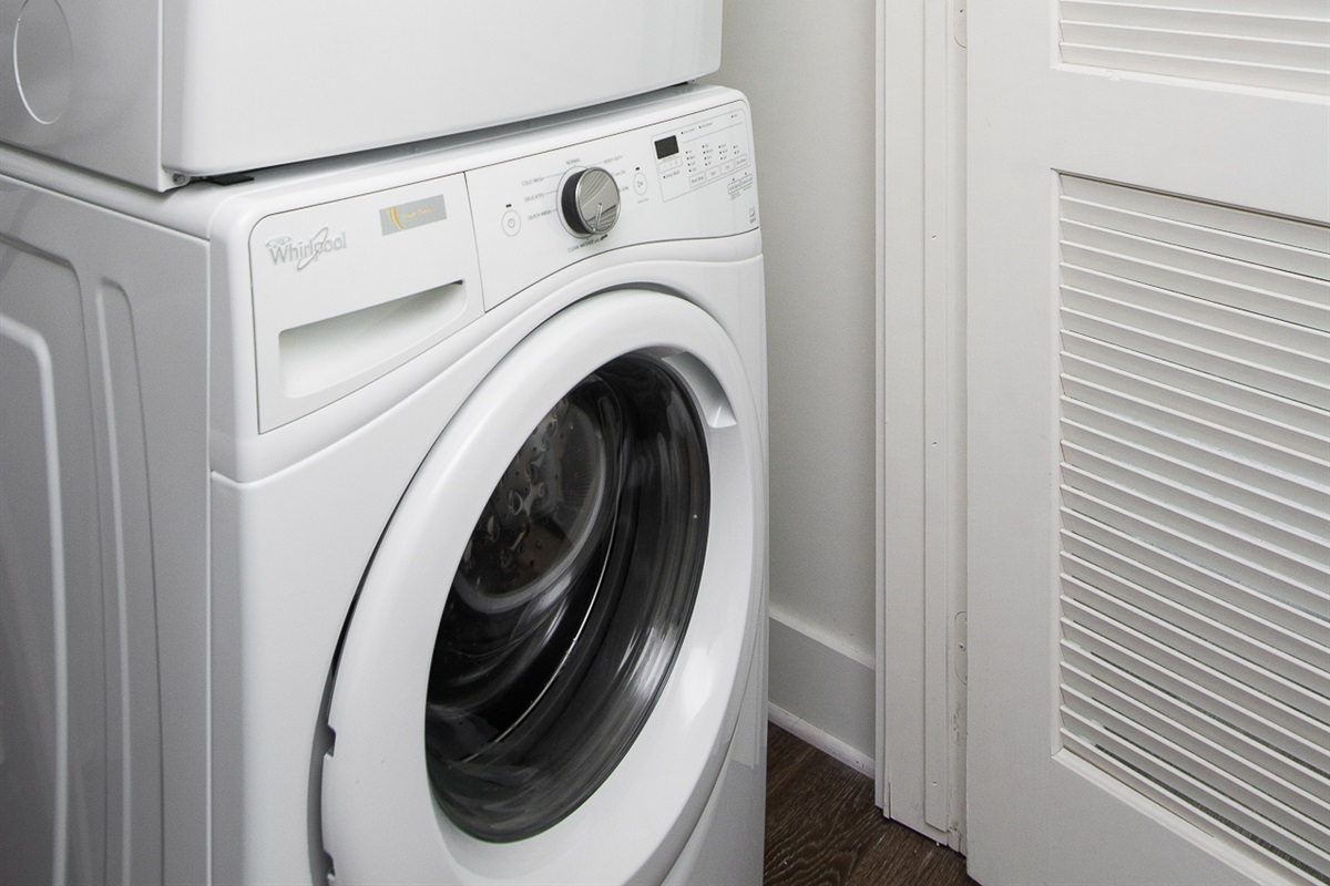 Washer and dryer with detergent available for your use!