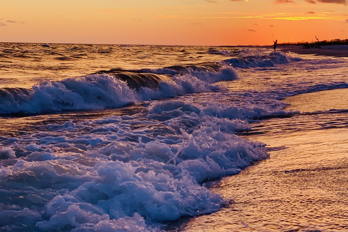 Enjoy the world's most beautiful sunsets at Two Sisters in Mexico Beach.