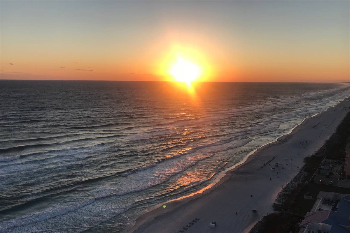 Sunset from the balcony!