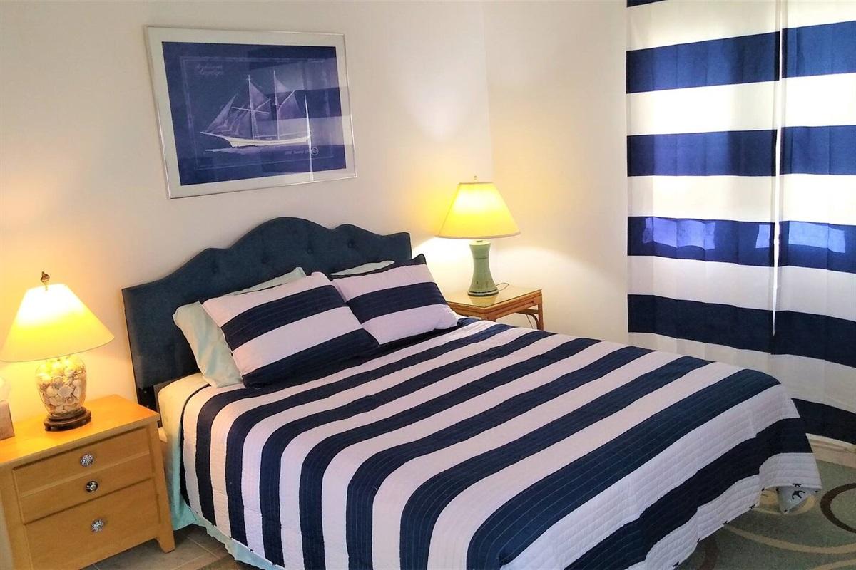 1st Floor bedroom with Queen Bed.