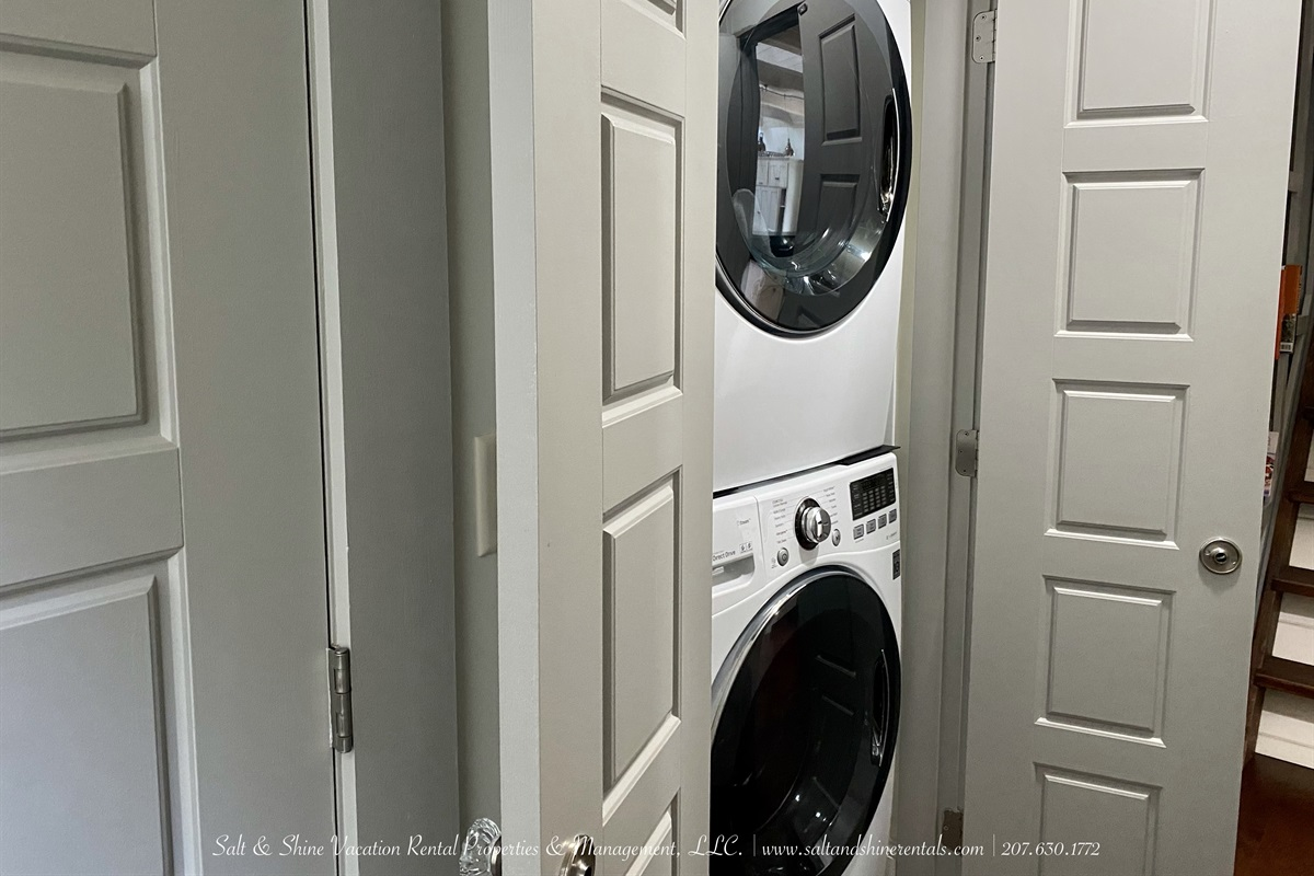 Stackable washer & dryer on main living levels
