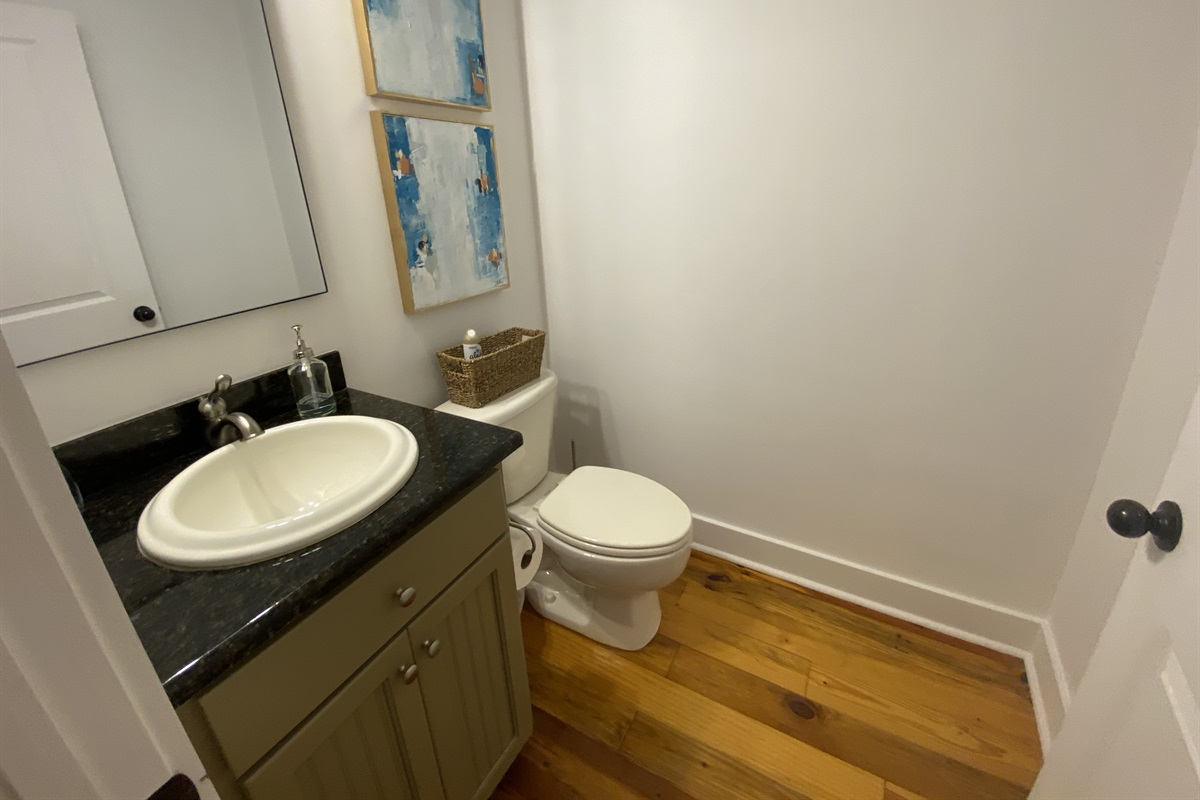 The half bath is conveniently located on the main floor.
