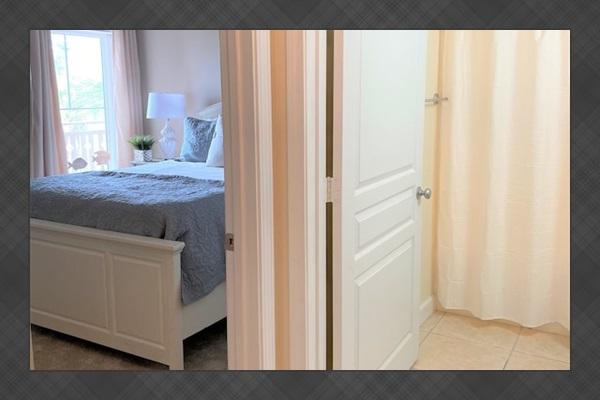 Bedroom #3 with convenient hall bathroom