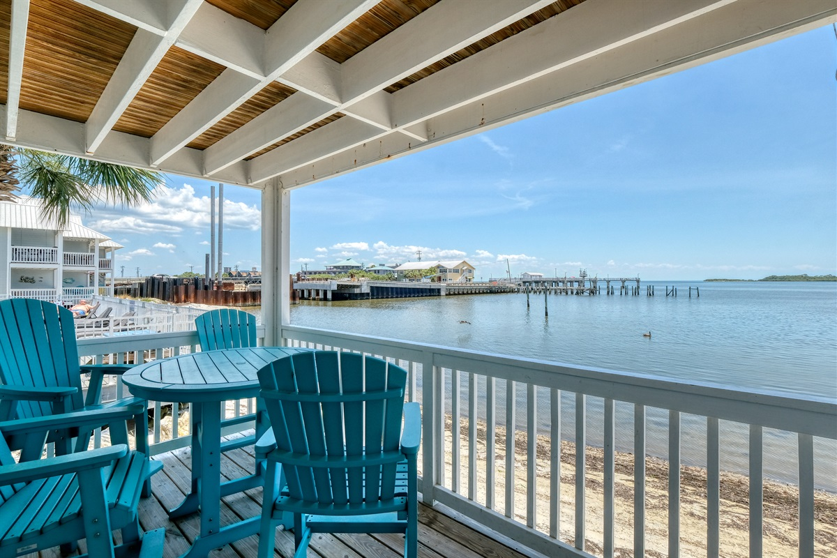 Stunning Gulf view right off the porch