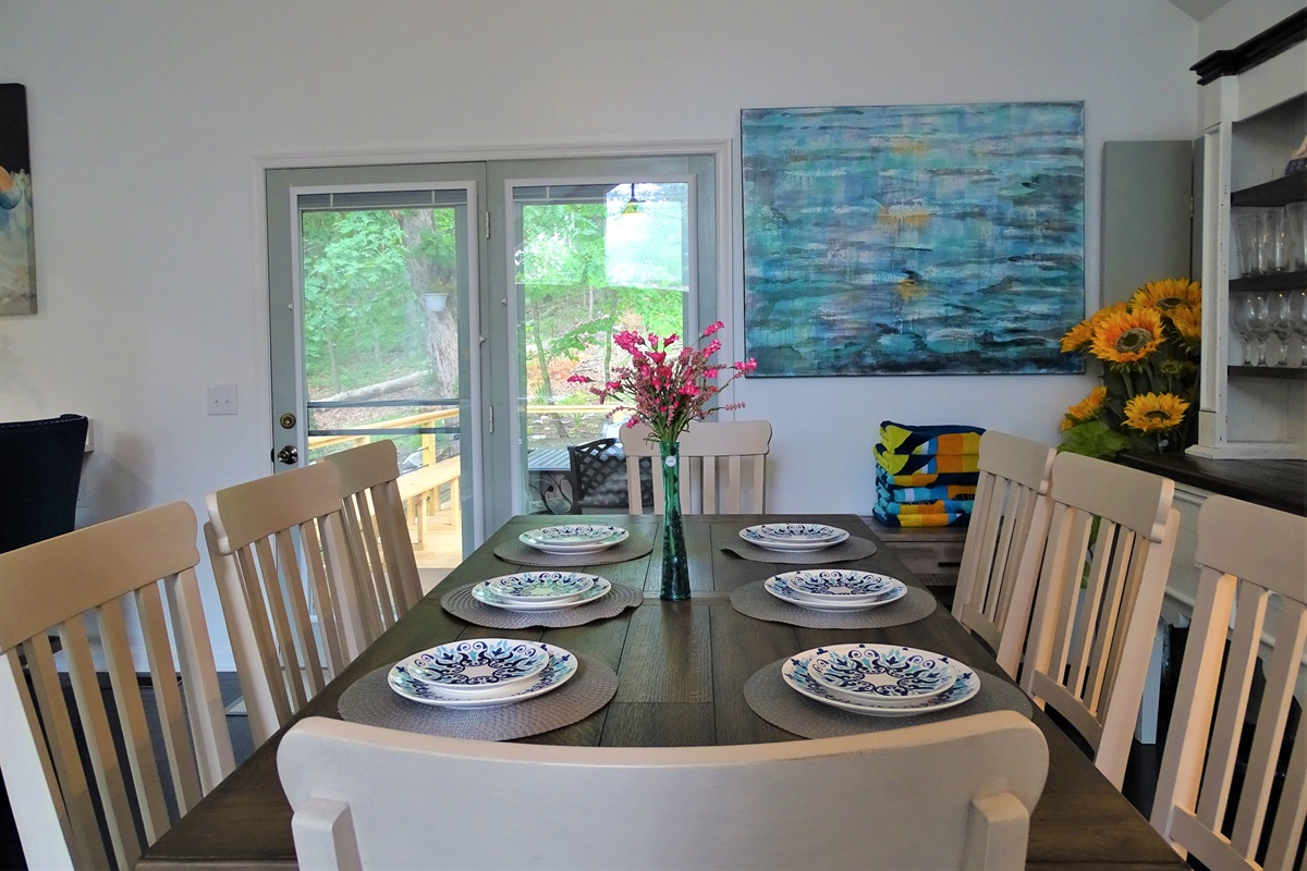 Large dining room table that seats 8
