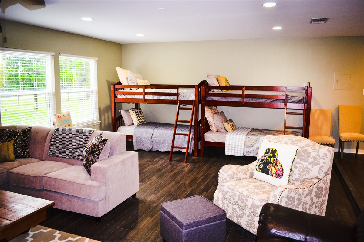2 bunk beds (living area #2).