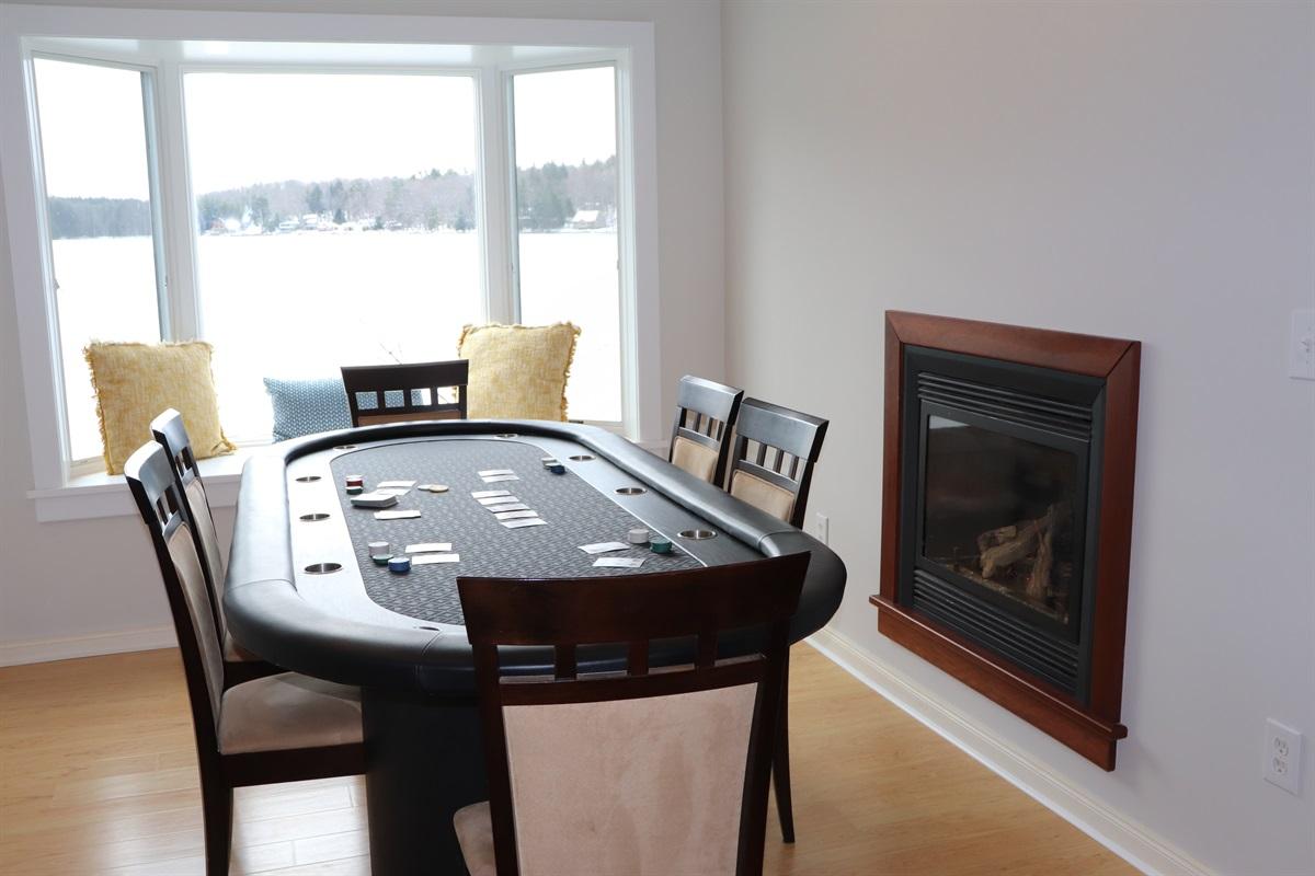 Poker table overlooking the lake!