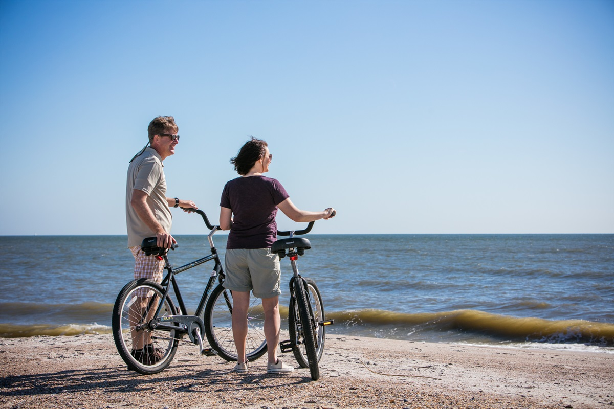 Try out a Low Tide Bike Ride