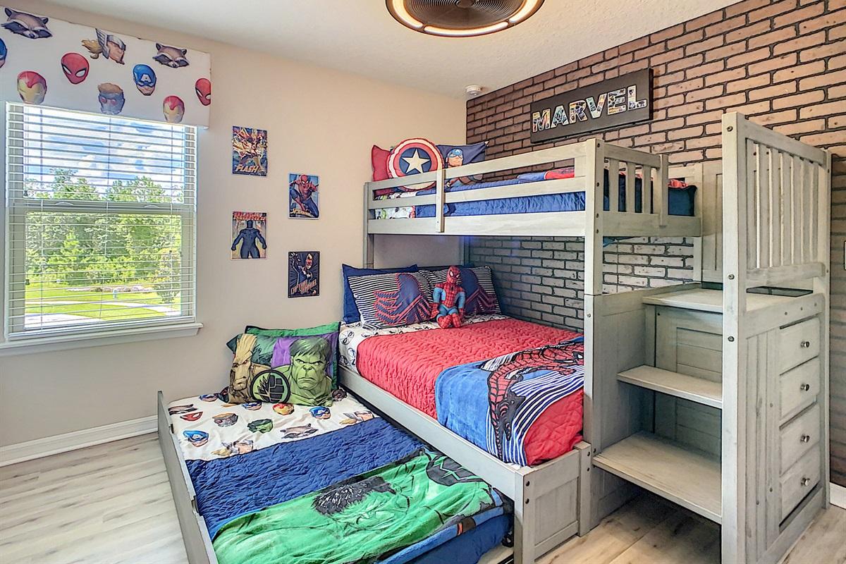 Bedroom 7 - 2nd Floor - Double-Twin-Twin Trundle