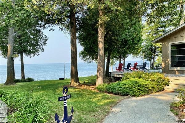 You'll love the 180' of Door County shoreline at Rocky Shores!