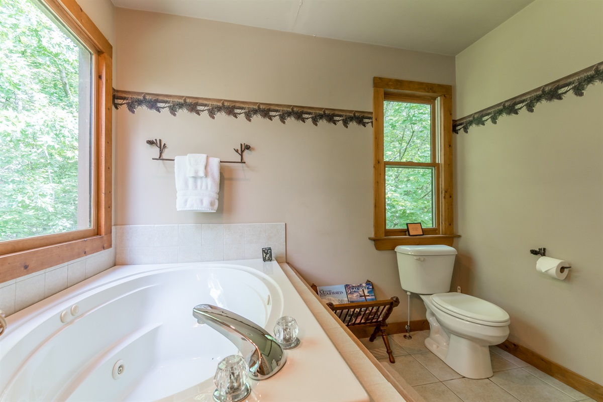 Full Master Bath with Jetted Tub and Standing Shower