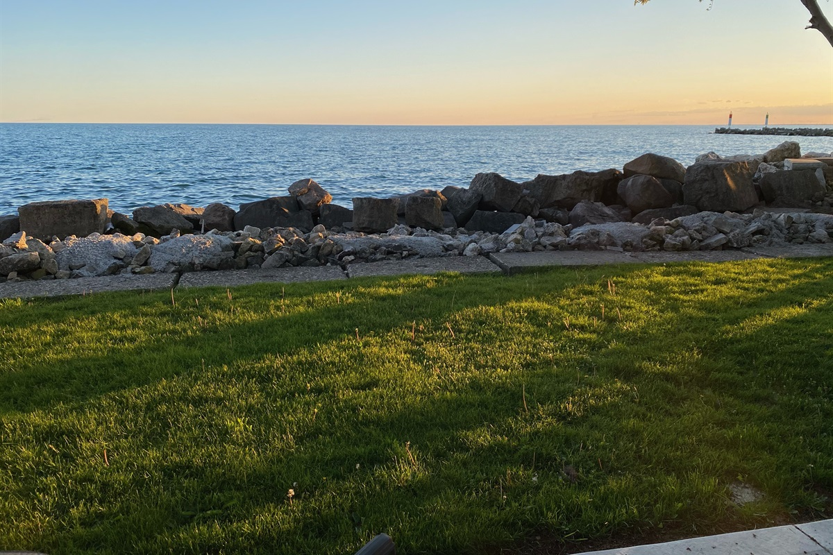 Perfect, close up views of Lake Erie