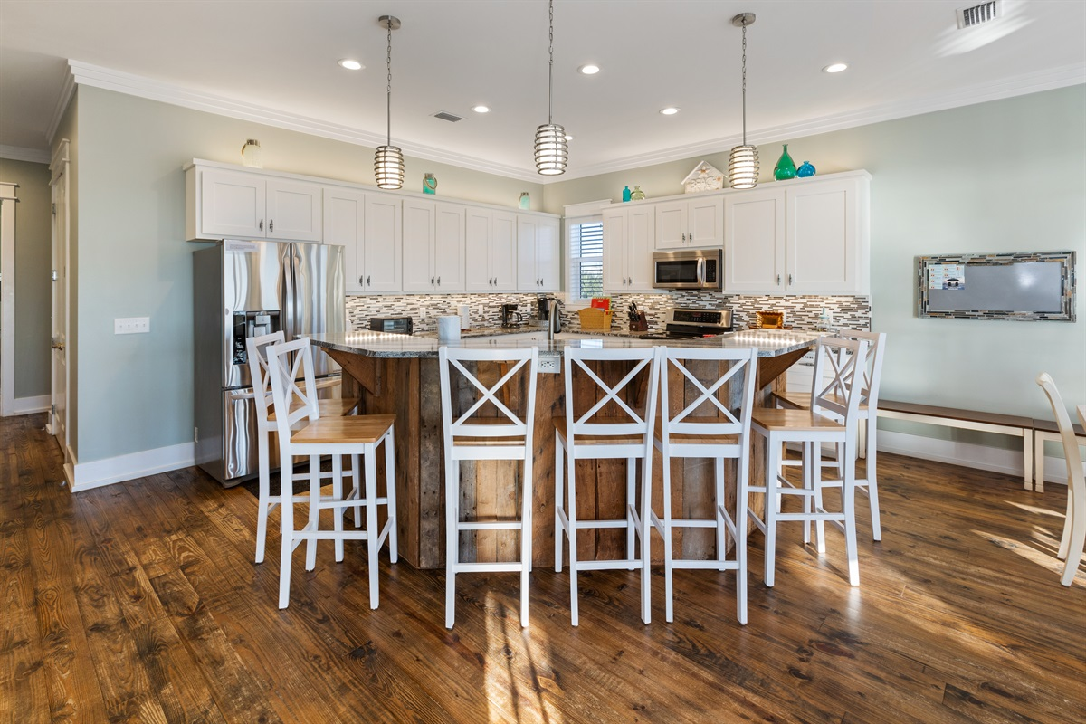 Huge kitchen is perfect for families sharing the duties of meal preparation and clean up.