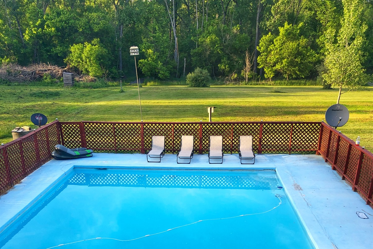 The largest pool in Luray, all yours!