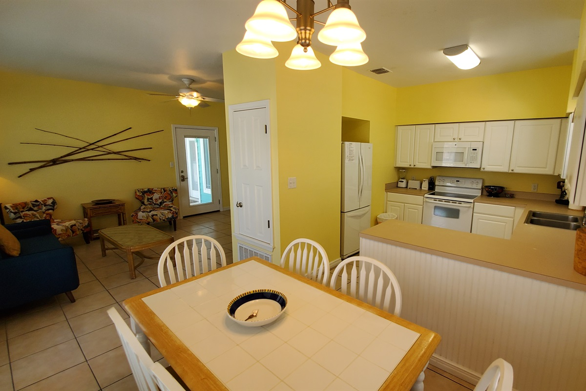 FULL Kitchen with complete cookware, dinnerware, glassware and silverware