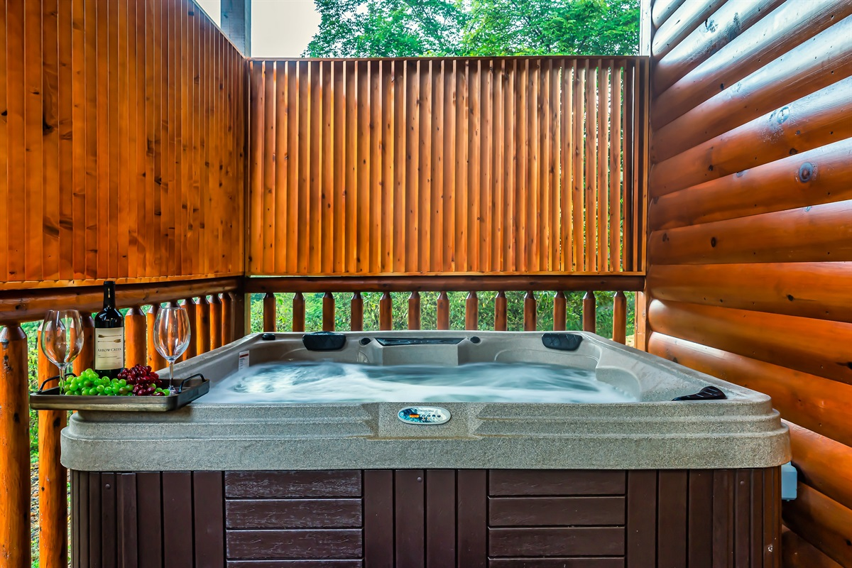 Hot Tub on lower level