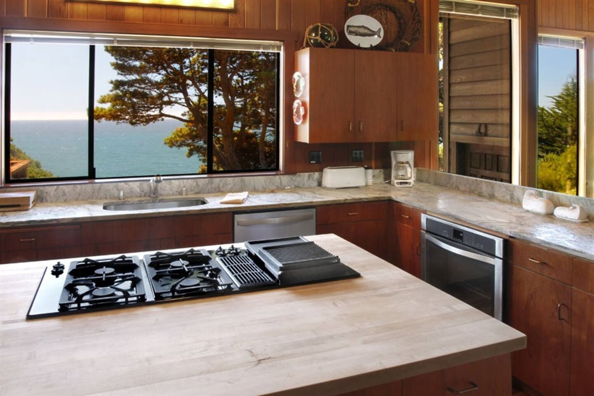 Ocean Bluff Serenity Kitchen to Ocean View