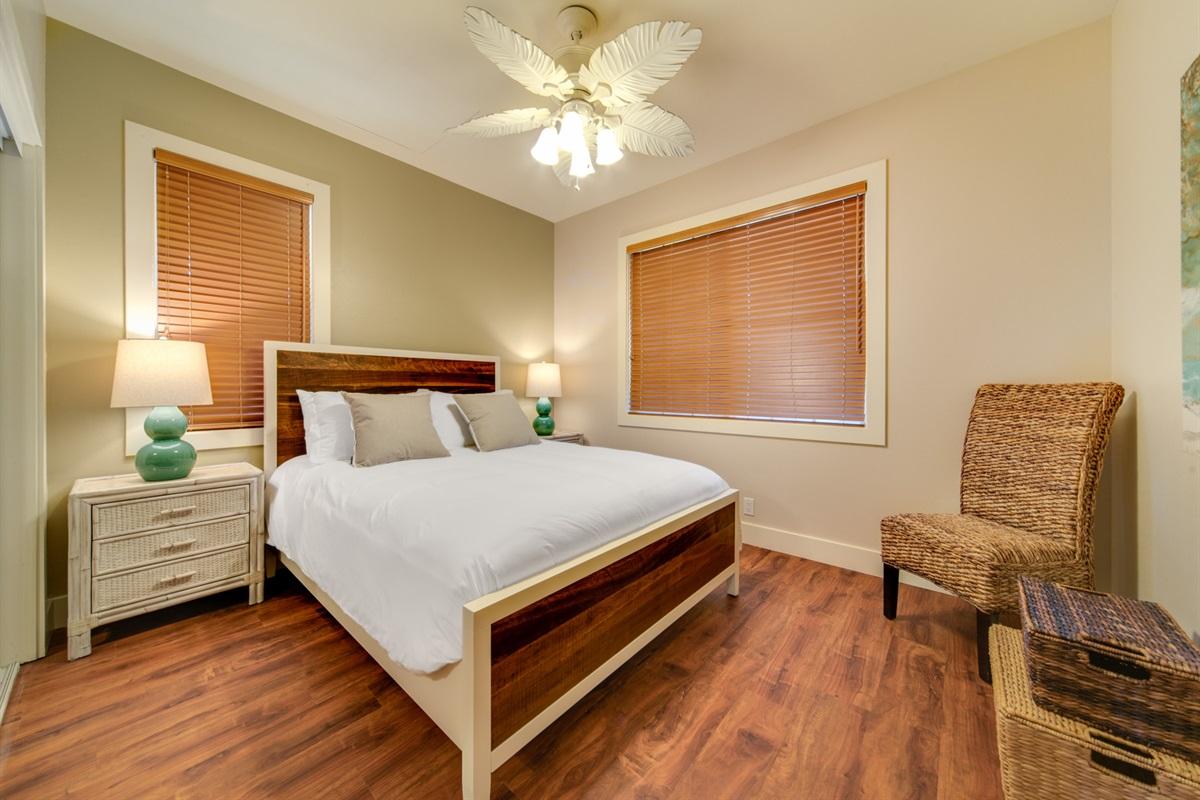 1st-floor Queen bedroom with full closet and bathroom