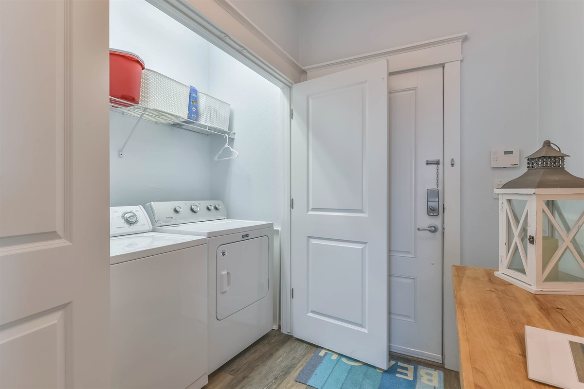 Full size washer and dryer in the condo