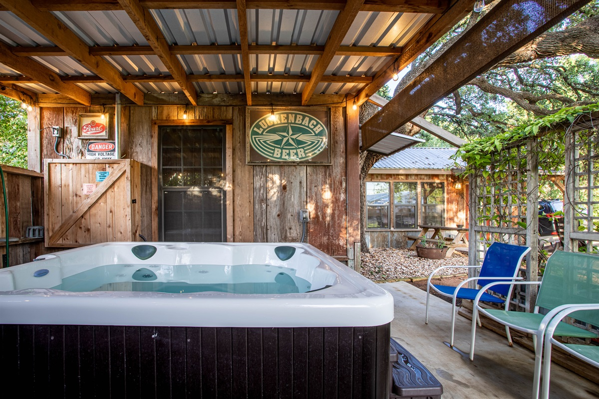 Second hot tub at the Barn Haus!