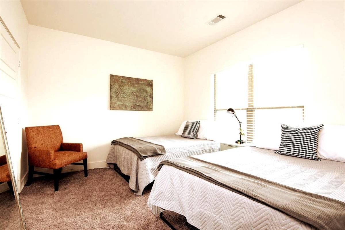 Two full sized memory foam beds in bedroom #2!
