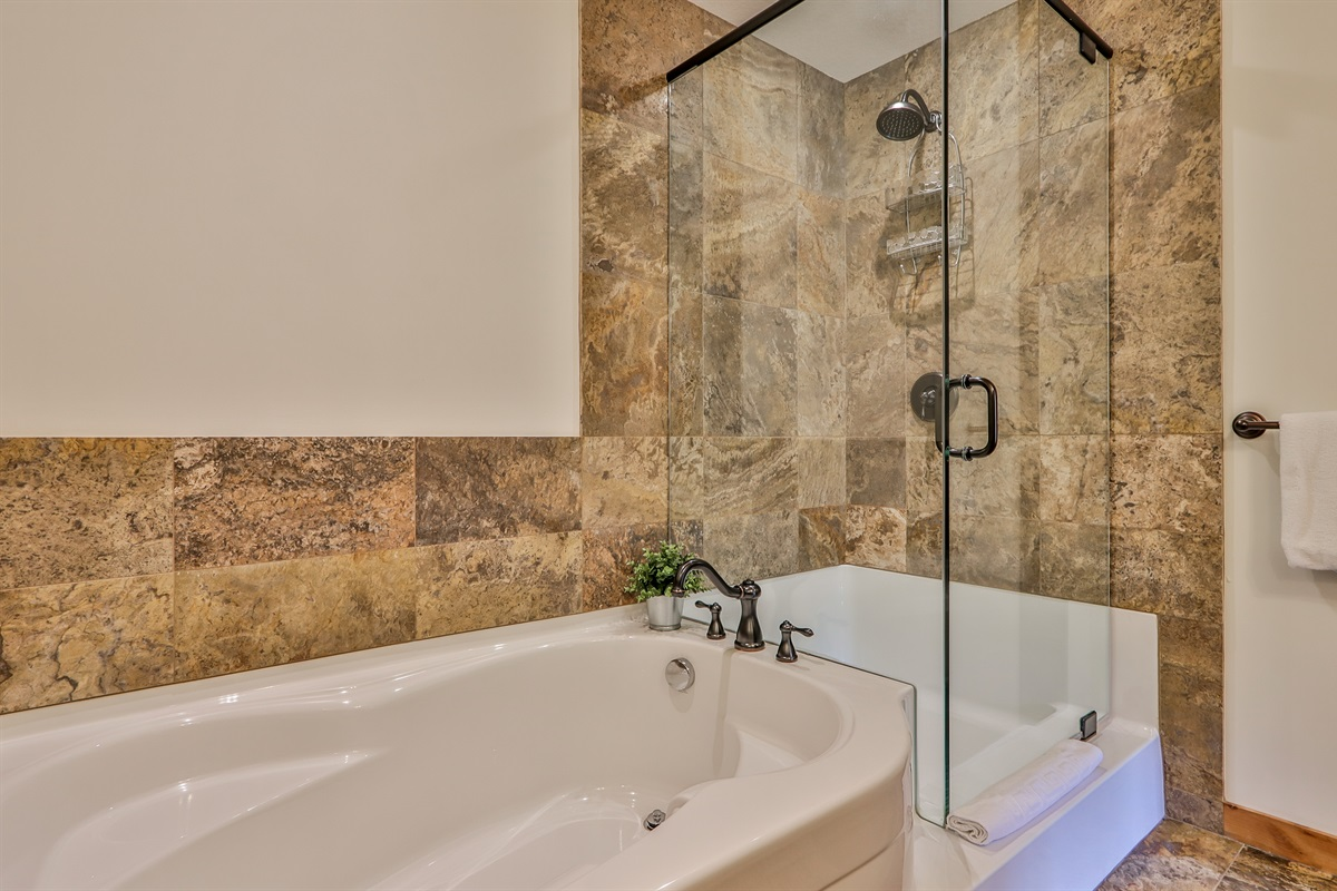 Tub and Shower in the ensuite