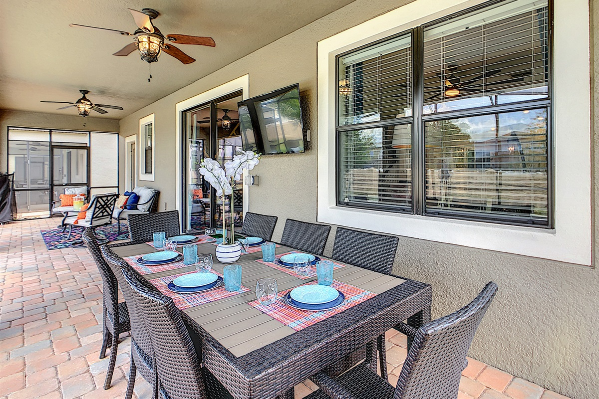 Lanai Dining Table And Television