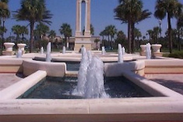 Fountain nearby