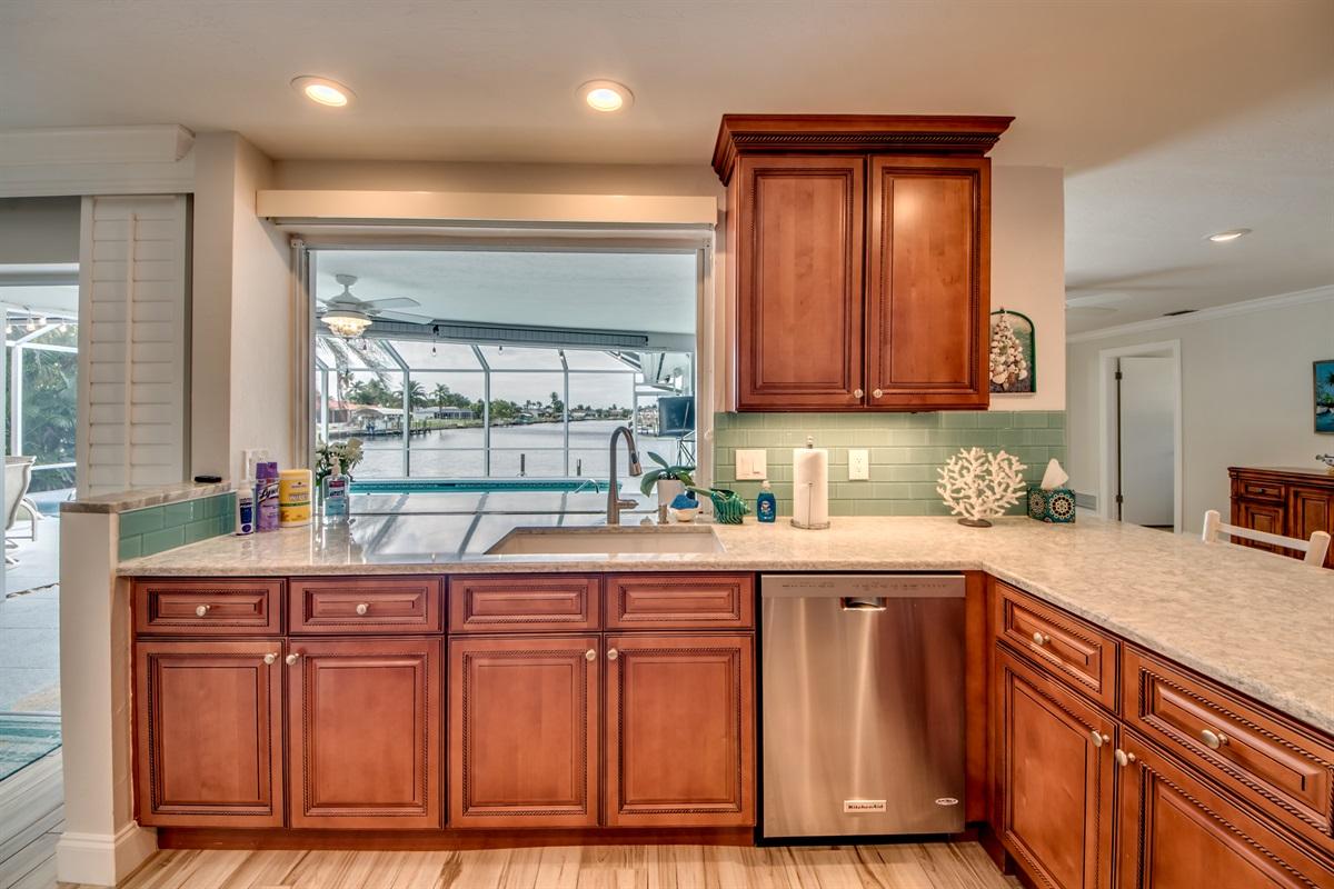Pass through window in kitchen