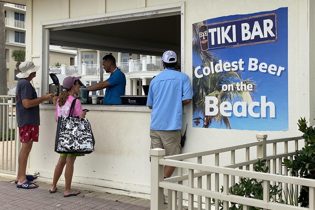 Tiki Bar for food and drinks!