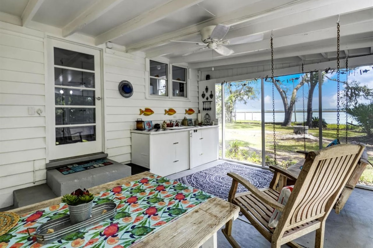 Cook Your Catch of the Day in the Outdoor Screened In Porch