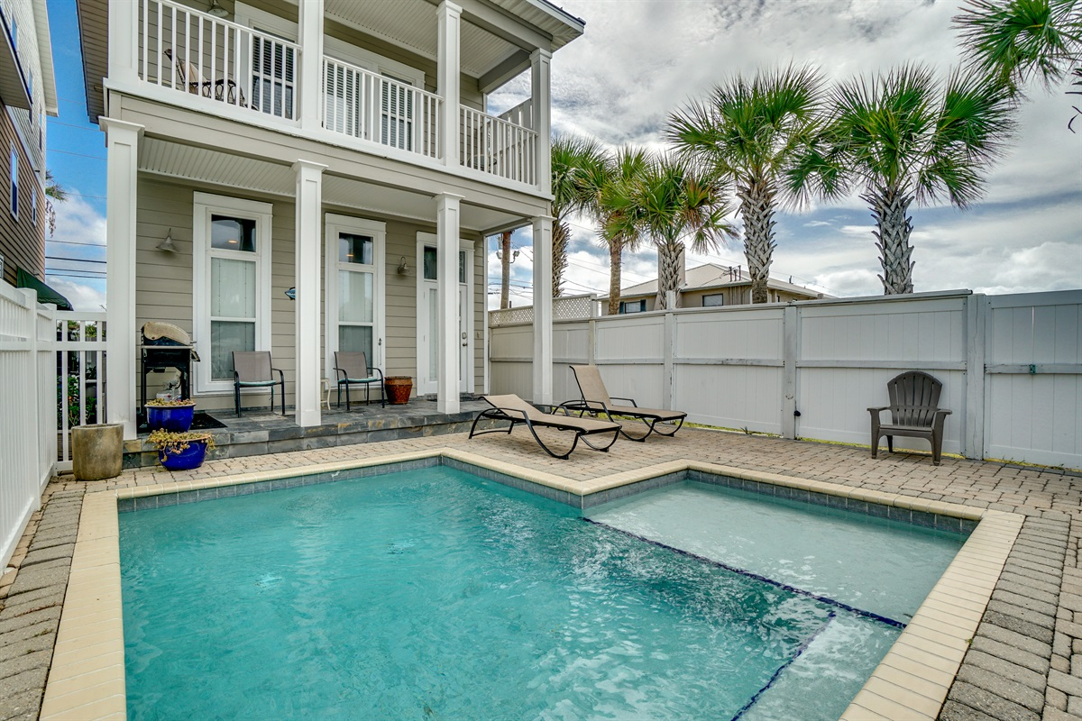 3 Story home with pool