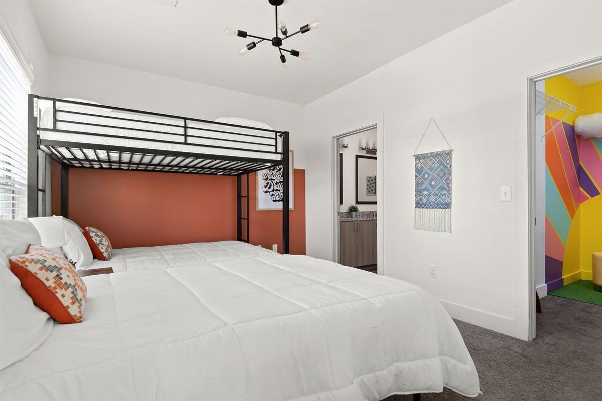 3 Memory foam beds and an ensuite bathroom in bedroom #1