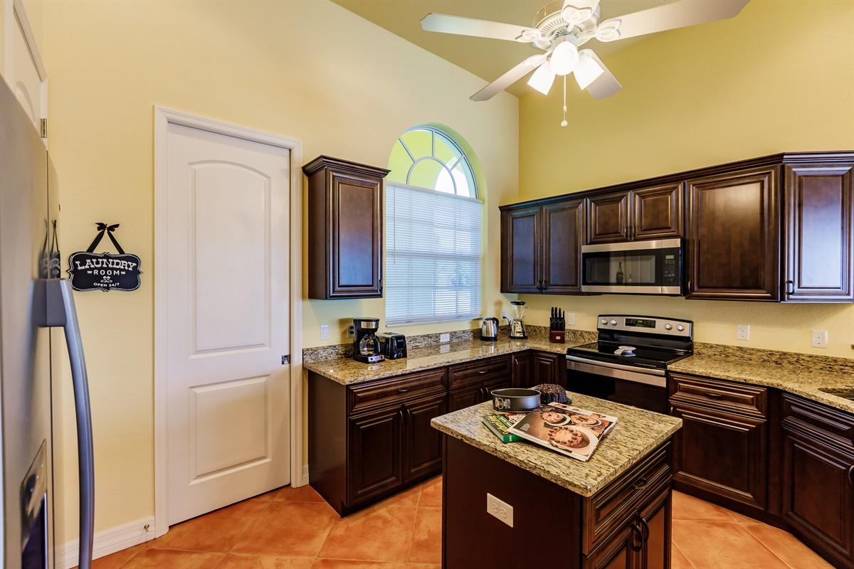 Kitchen, door to Laundry