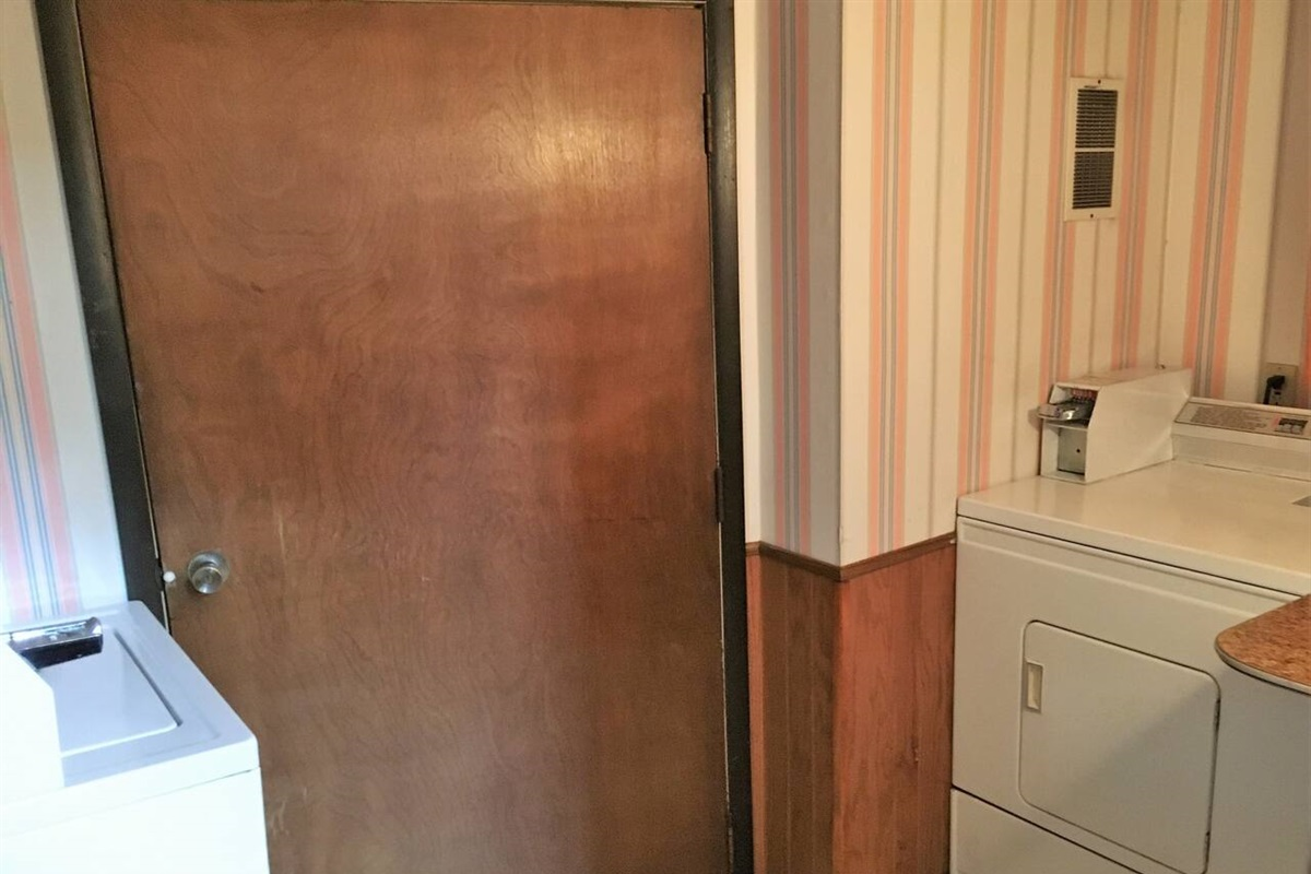 Shared laundry room for Championship House, located in the common basement of the building