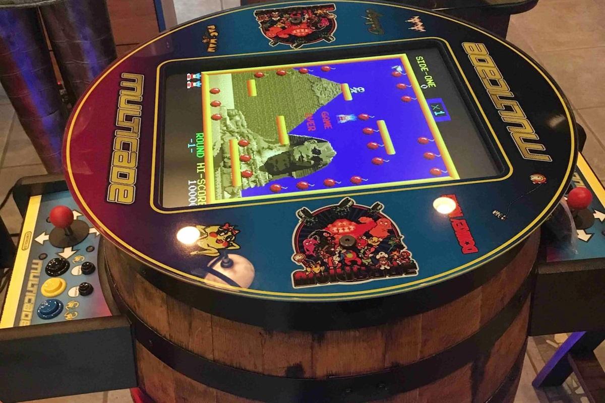 60 Retro arcade games like Pac Man, Donkey Kong, Galaga, Centipede, and Dig Dug