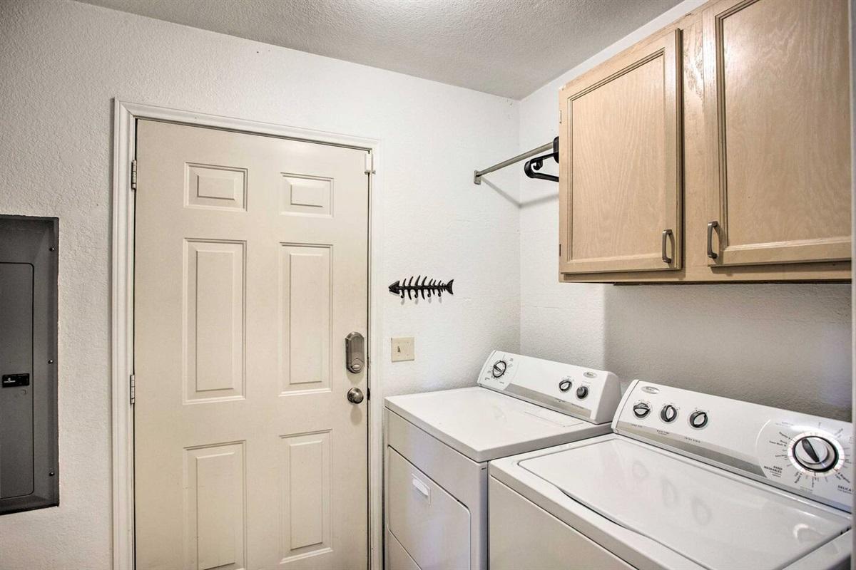 Full size washer & dryer.