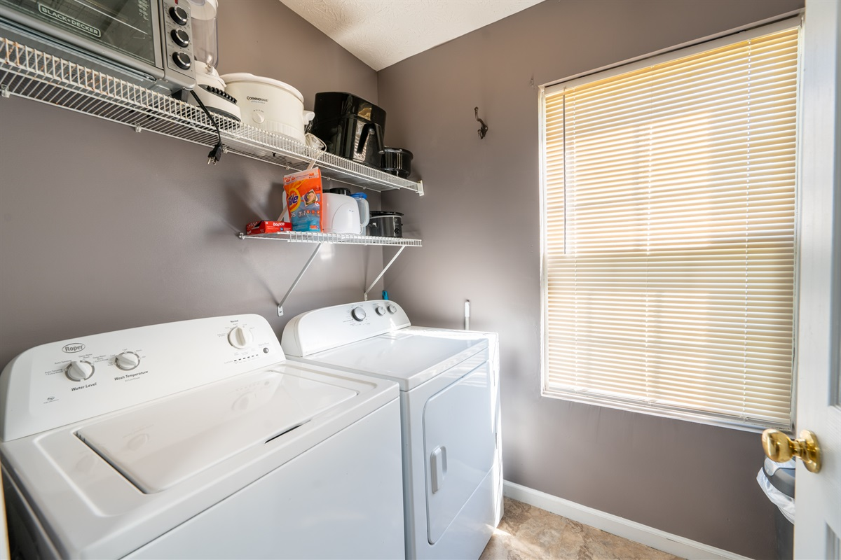 Laundry room available for your use