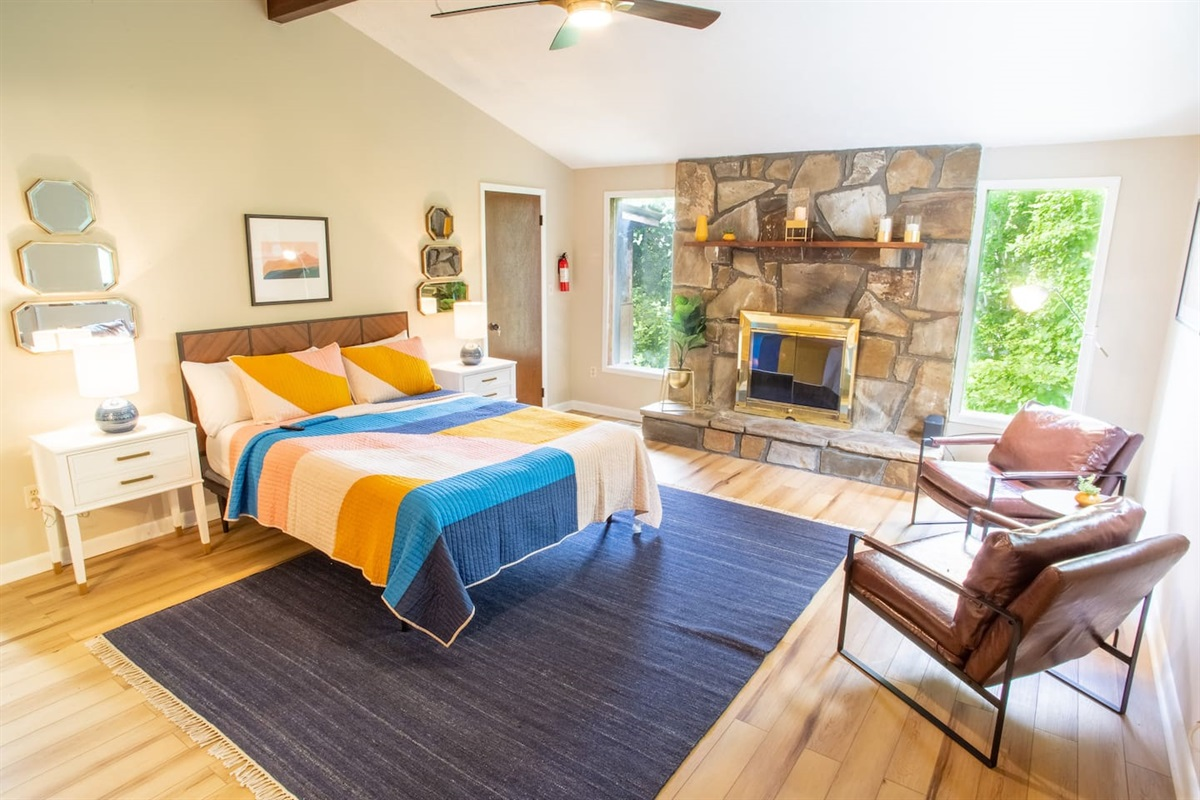 Master bedroom with connected bathroom