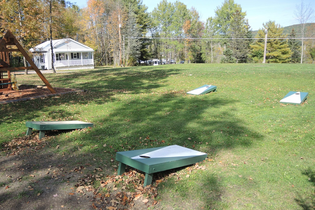 Swingset and lawn games