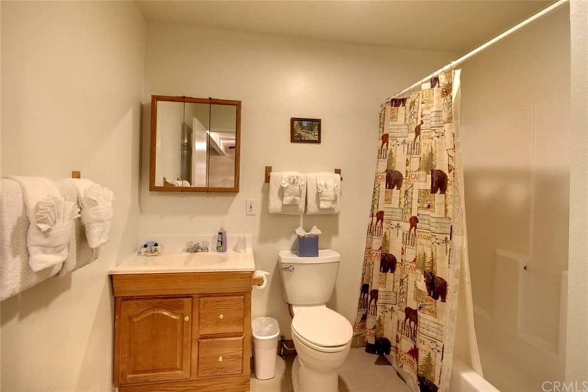 Bathroom #3: Downstairs bathroom with bathtub & shower connected to Bedroom #4.