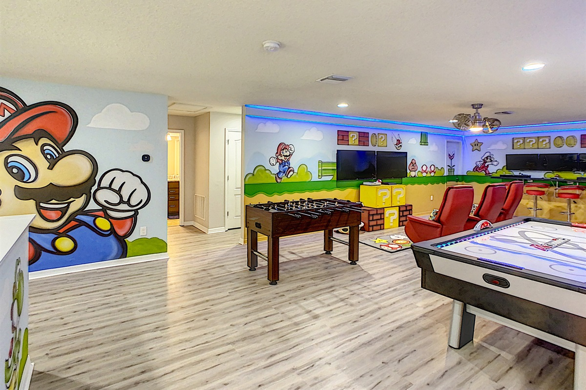 Game Room - Air Hockey, Foosball, Xbox, PS4 And Over 5400 Video Arcade Games