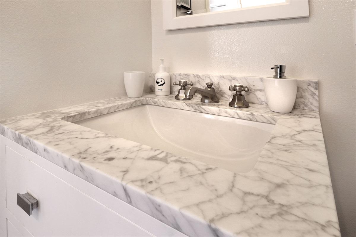 River Seascape Master Bath Sink